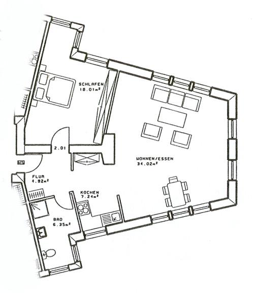 2-Personen-Apartment